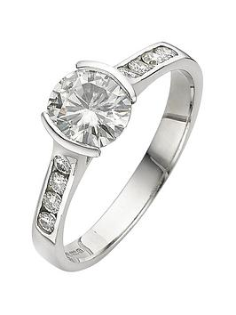 moissanite-18-carat-white-gold-107-points-tension-set-ring