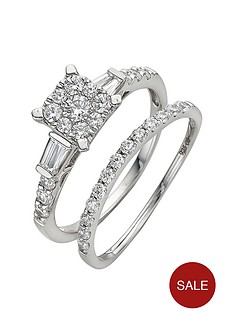 love-diamond-9-carat-white-gold-093pt-cluster-bridal-set