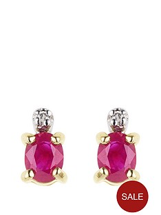 love-gem-9-carat-yellow-gold-ruby-and-diamond-earrings
