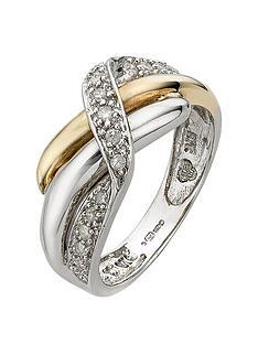 love-diamond-9-carat-gold-2-colour-13pt-diamond-set-crossover-ring