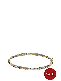 love-gold-9-carat-yellow-and-white-gold-diamond-cut-rim-bangle