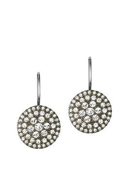 fossil-pave-silver-earrings-with-glass-crystal-stones
