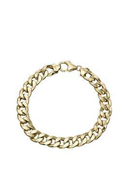 9-carat-hollow-oval-curb-bracelet