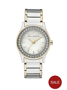 french-connection-ladies-two-tone-watch