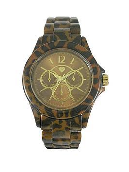 love-label-ladies-leopard-sports-watch
