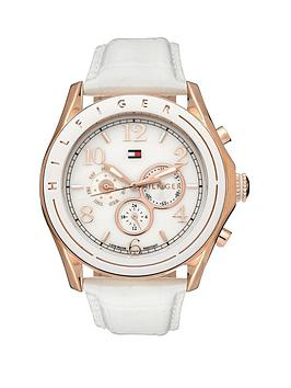 tommy-hilfiger-ladies-white-leather-strap-chrono-watch