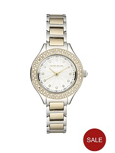 karen-millen-two-colour-swarovski-crystal-ladies-watch