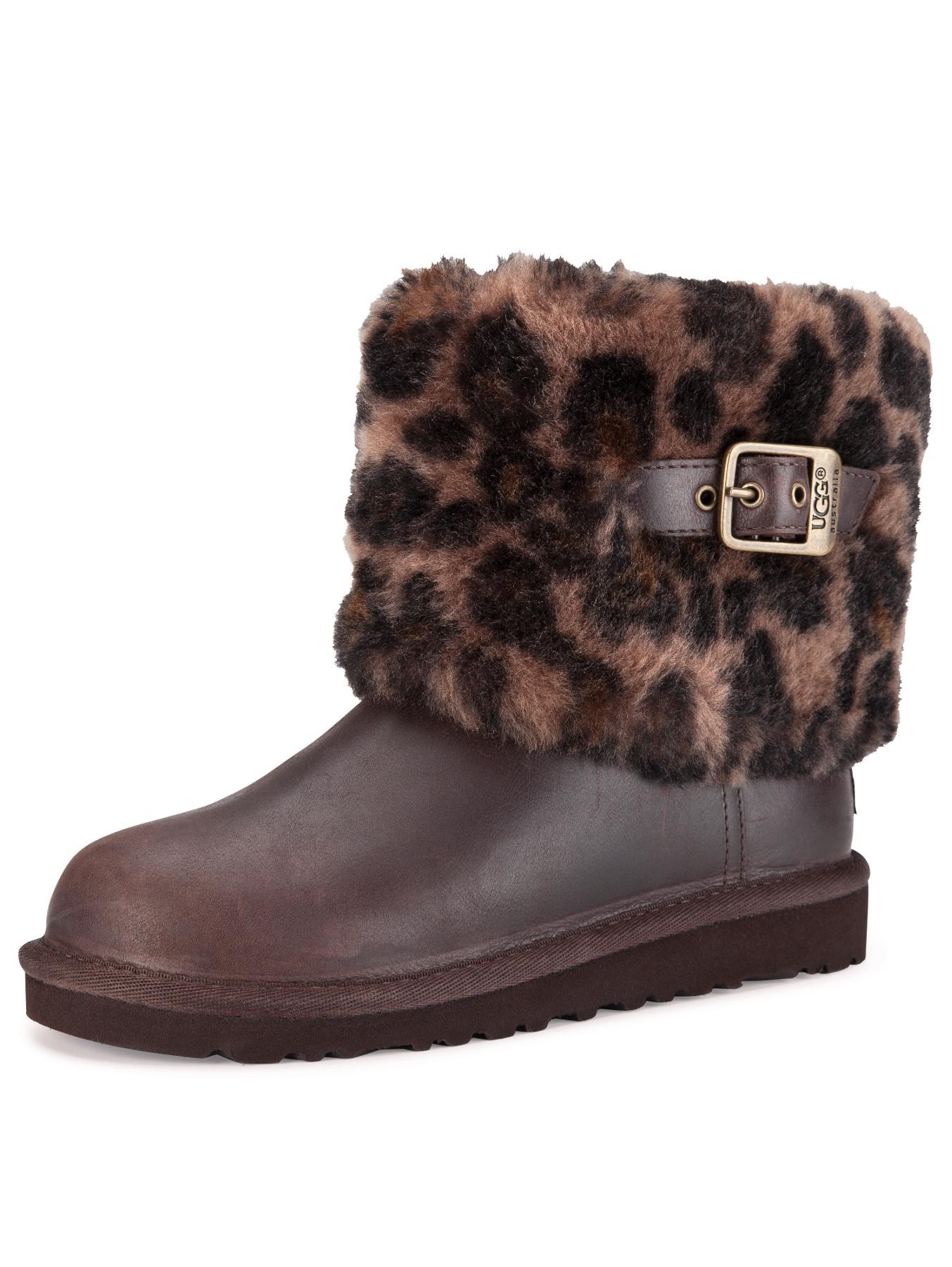 ugg australia ellee fleece collar boots