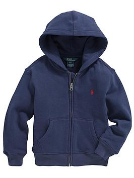 Ralph Lauren Classic Zip Through Hooded Top  Navy