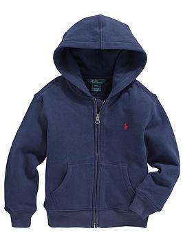 Ralph Lauren Classic Zip Through Hooded Top  Navy