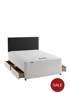 silentnight-miracoil-3-supreme-memory-divan-bed-with-optional-next-day-delivery