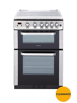 servis-dg60ss-60cm-double-oven-gas-cooker-with-lid-stainless-steel