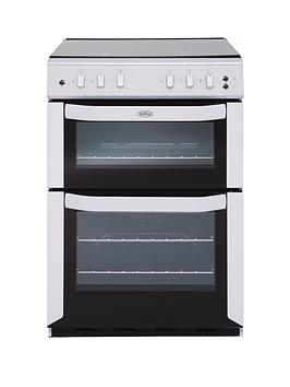 belling-fsg55tcf-55cm-twin-cavity-gas-oven-white