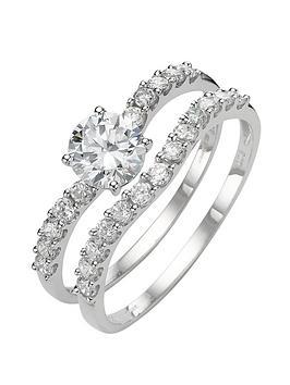 love-gem-9-carat-white-gold-cubic-zirconia-two-piece-bridal-set