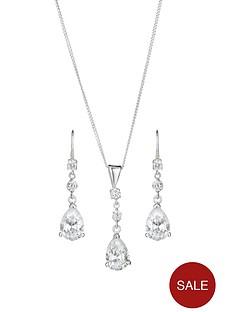 sterling-silver-cubic-zirconia-teardrop-earring-and-pendant-set