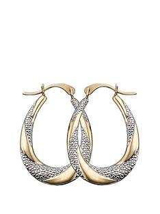 9-carat-gold-2-tone-creole-earrings