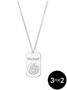 the-love-silver-collection-sterling-silver-st-christopher-personalised-dog-pendant-on-20-inch-belcher