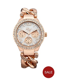 little-mistress-rose-gold-chain-link-ladies-watch