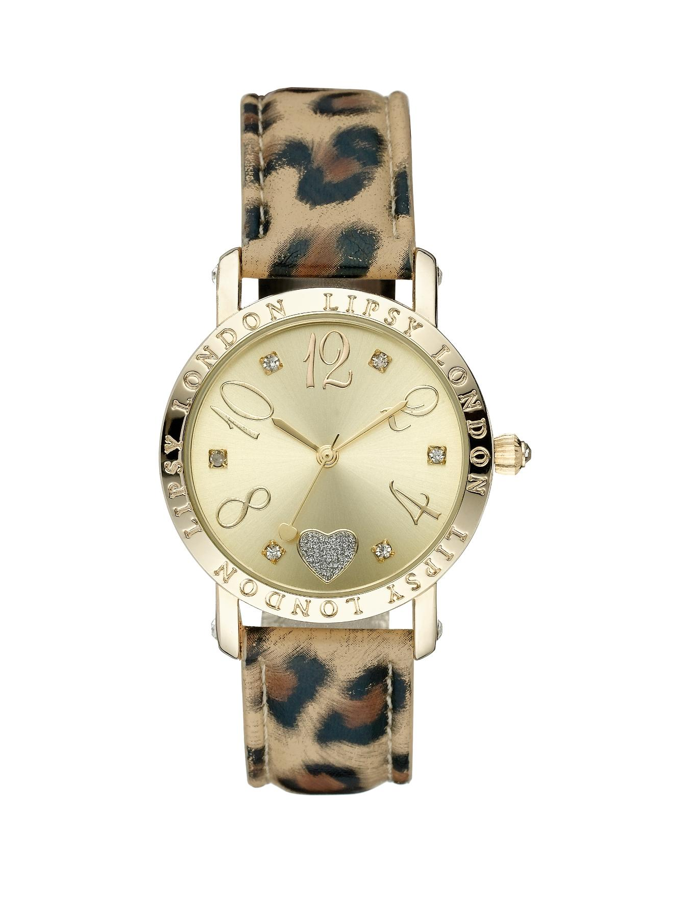 PU Leopard Print Strap Ladies Watch at Littlewoods