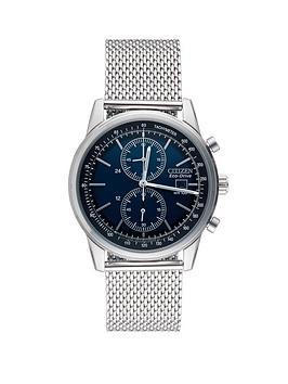 citizen-eco-drive-mesh-chronograph-bracelet-mens-watch