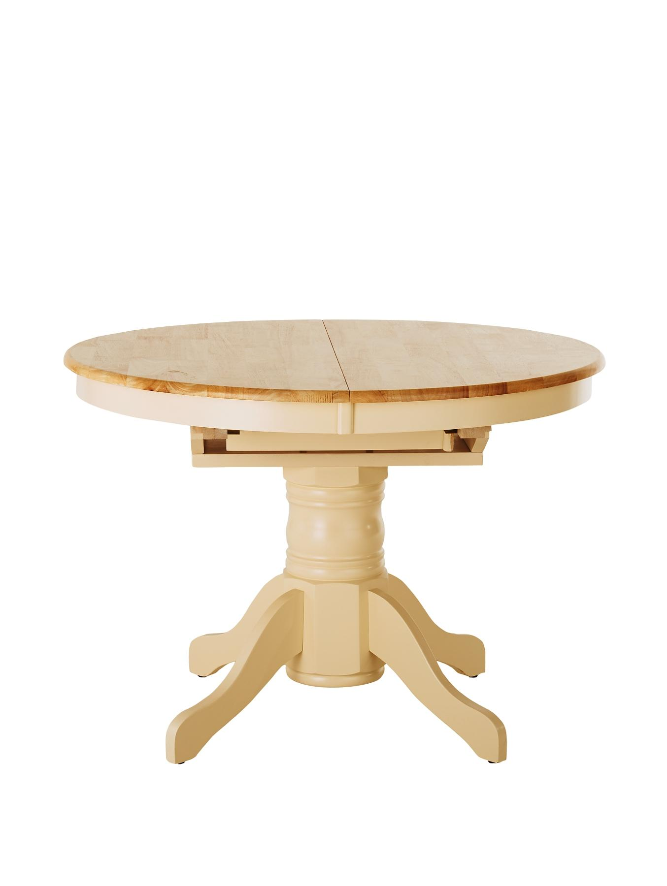 kildare extending round dining table natural kildare round extendable