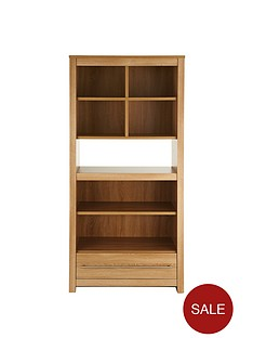 consort-zenas-ready-assembled-wide-bookcase-with-drawer