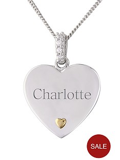 keepsafe-sterling-silver-and-gold-personalised-heart-pendant