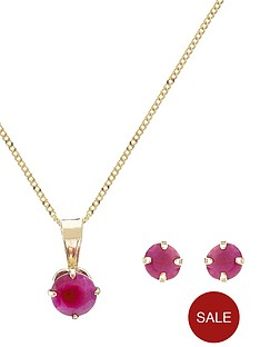 love-gem-9-carat-gold-ruby-pendant-and-earring-set