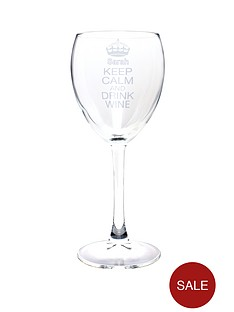 personalised-keep-calm-wine-glass