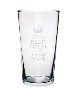 personalised-keep-calm-pint-glass