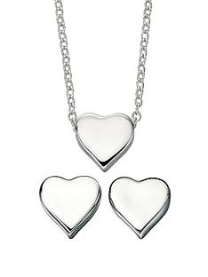 elements-sterling-silver-heart-chain-and-earring-set