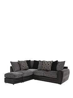 monico-diamond-left-hand-single-arm-corner-chaise-sofa-with-footstool