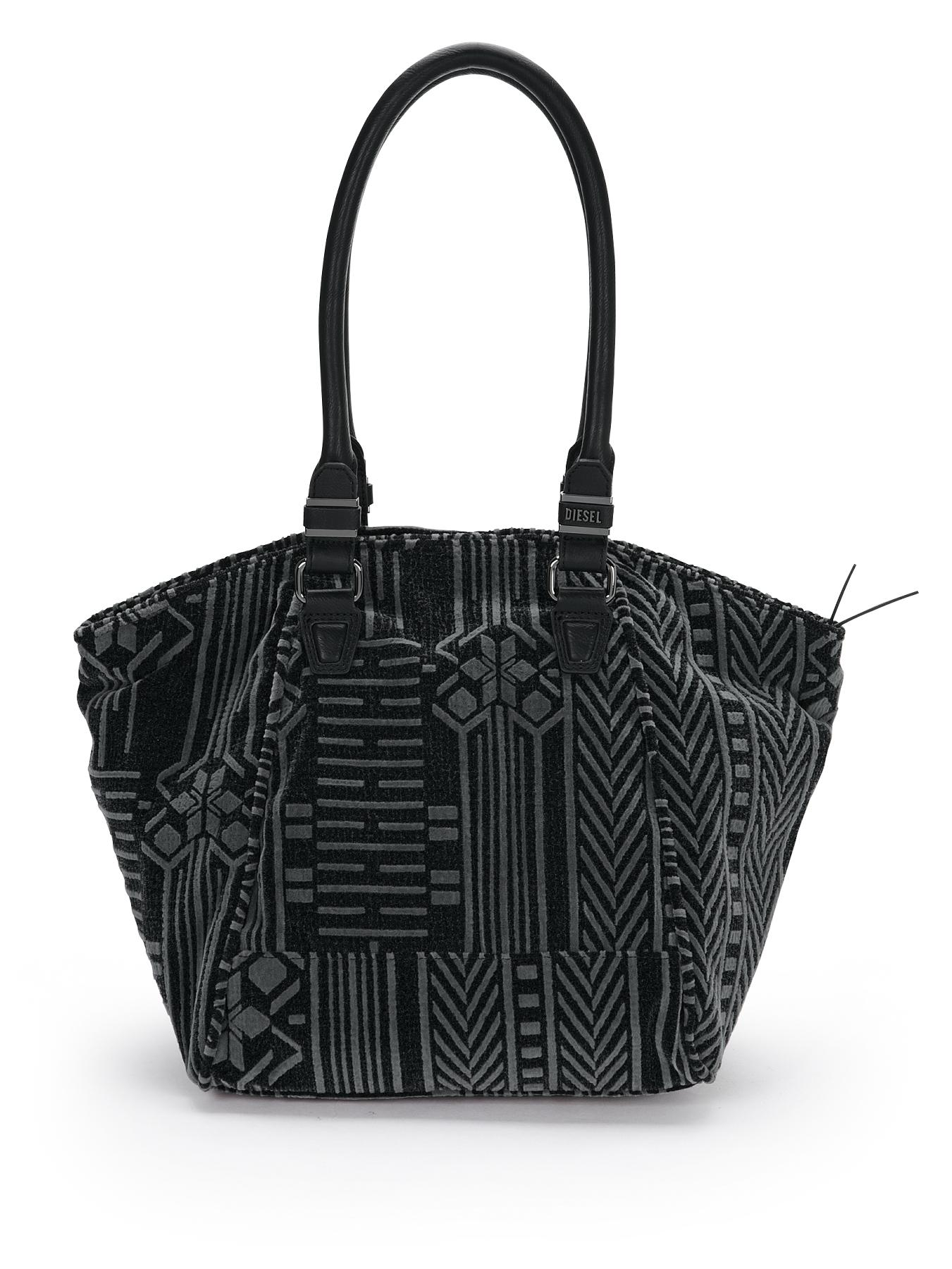 Flock Print Shoulder Bag blackgrey