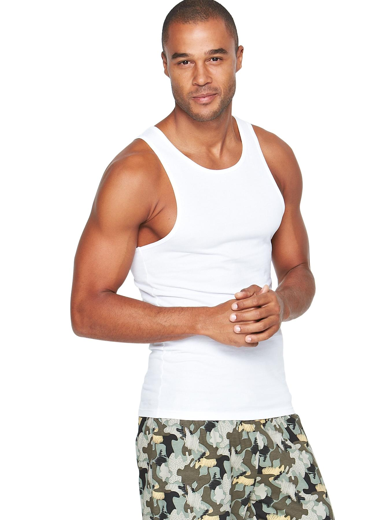 Mens Vests (3 Pack), White