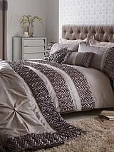 Mia Bedding Range - Silver/Grey