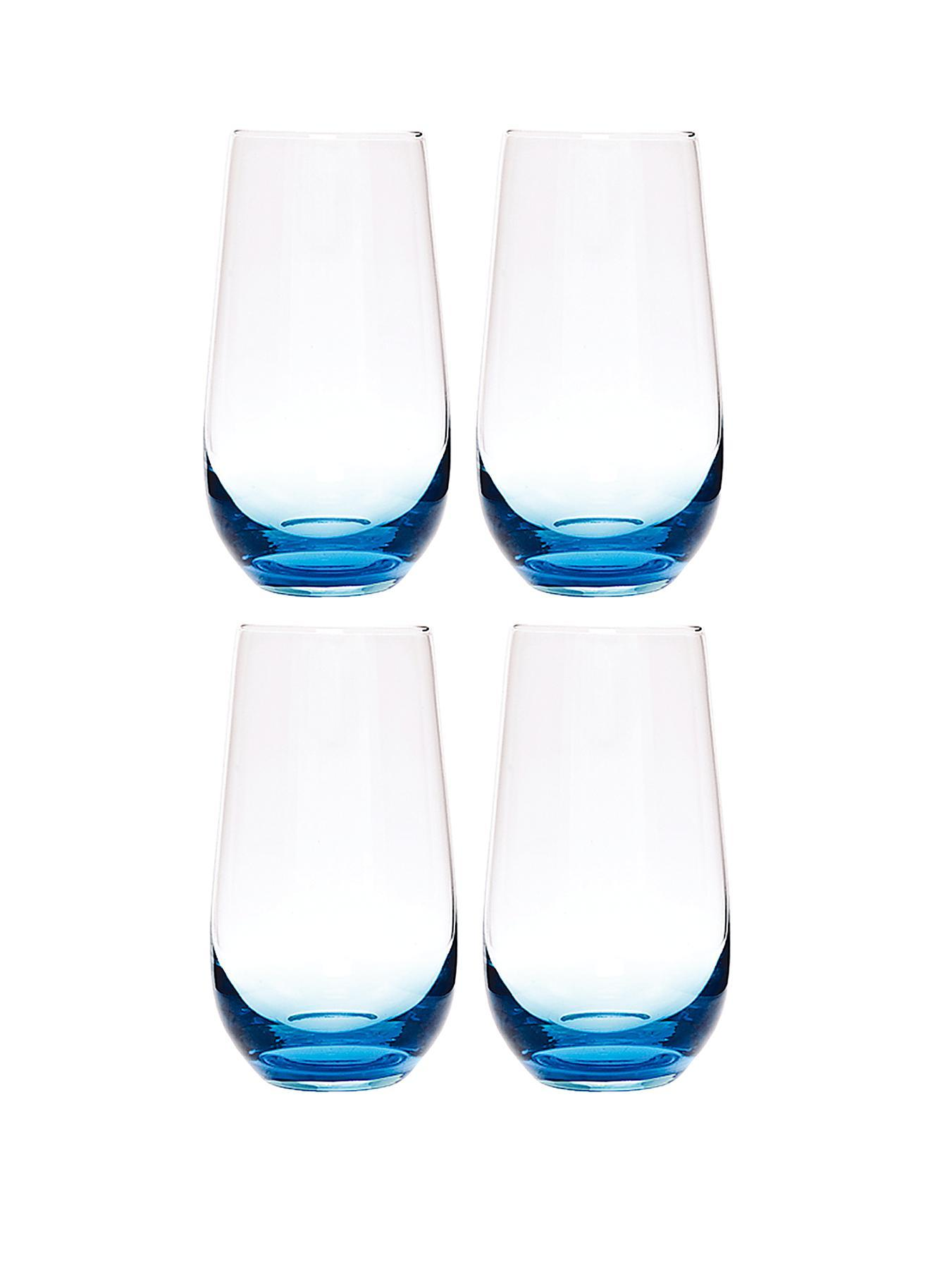 Cook and Dine Tumbler Glasses, Blue,Red