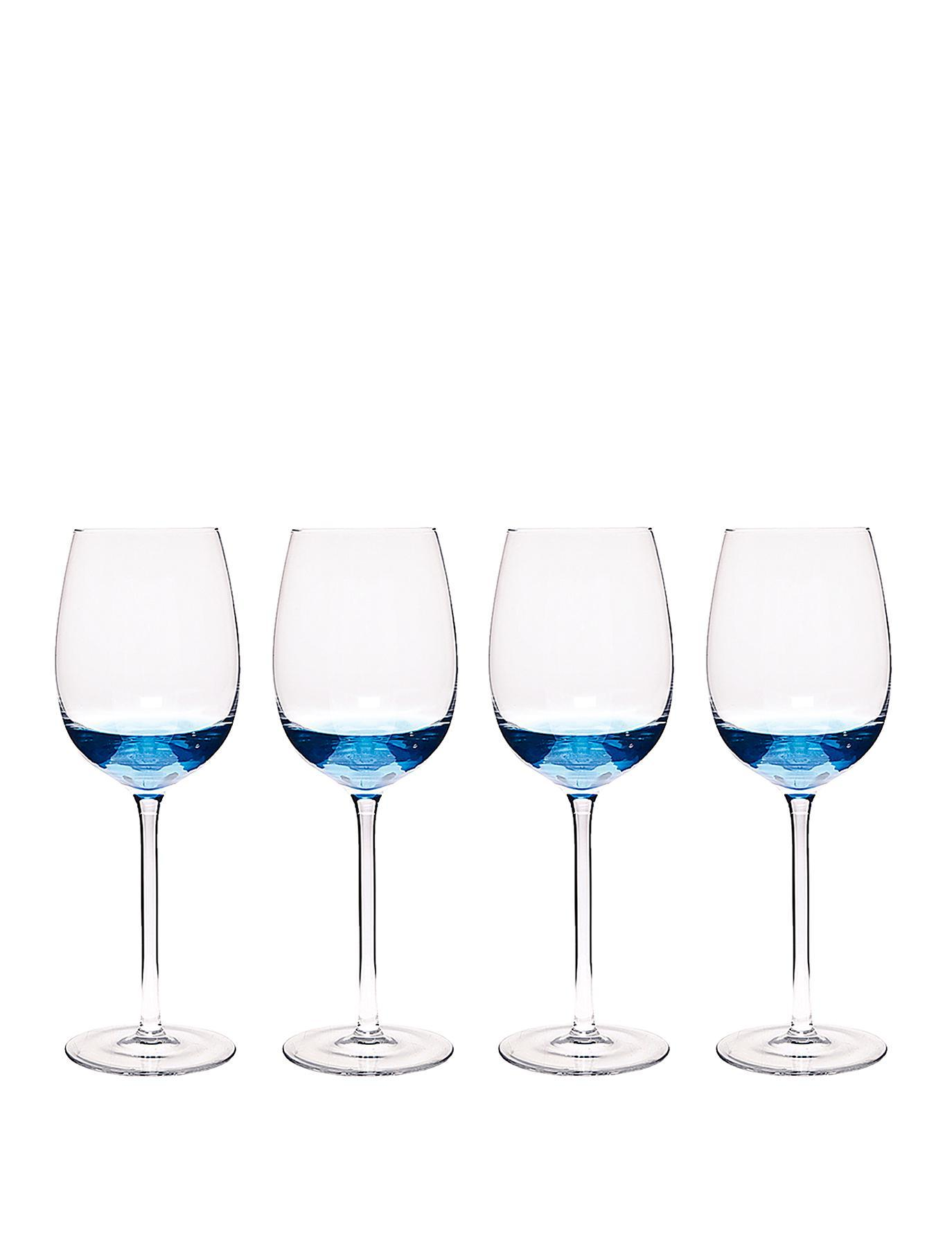 Cook and Dine Wine Glasses, Blue,Red