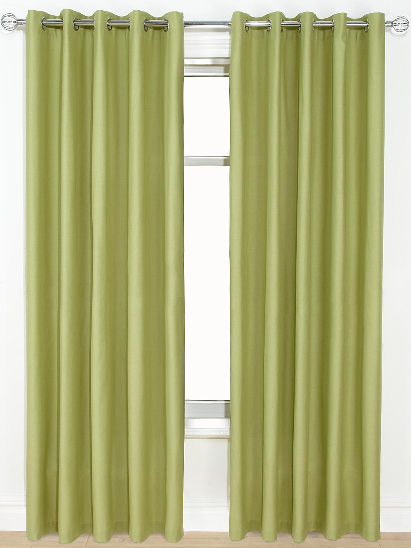 Canvas Lightweight Eyelet Unlined Curtains, Green,Grey,Chocolate,Taupe,Red,Black.
