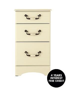 consort-new-avanti-ready-assembled-3-drawer-graduated-bedside-cabinet