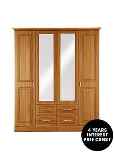 consort-dorchester-4-door-4-drawer-mirrored-wardrobe