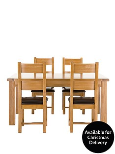 oakland-170-cm-solid-oak-dining-table-4-chairs-buy-and-save