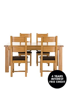 oakland-solid-oak-dining-table-4-chairs