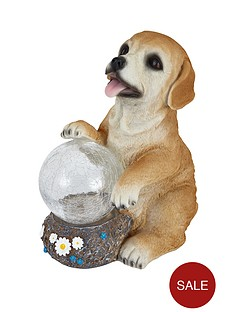 dog-garden-solar-light