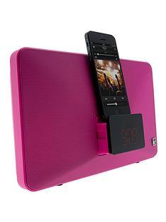 kitsound-fresh-8-pin-lightning-clock-radio-speaker-docking-station-pink