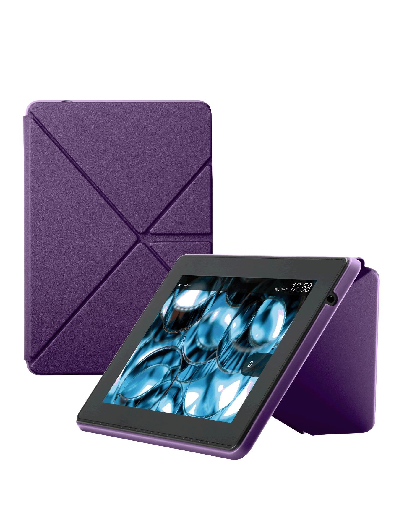 HDX 7 inch Origami Basic Cover, Black,Grey,Blue,Purple,Lime