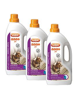 Vax Aaa Pet Carpet Cleaning Solution Triple Pack