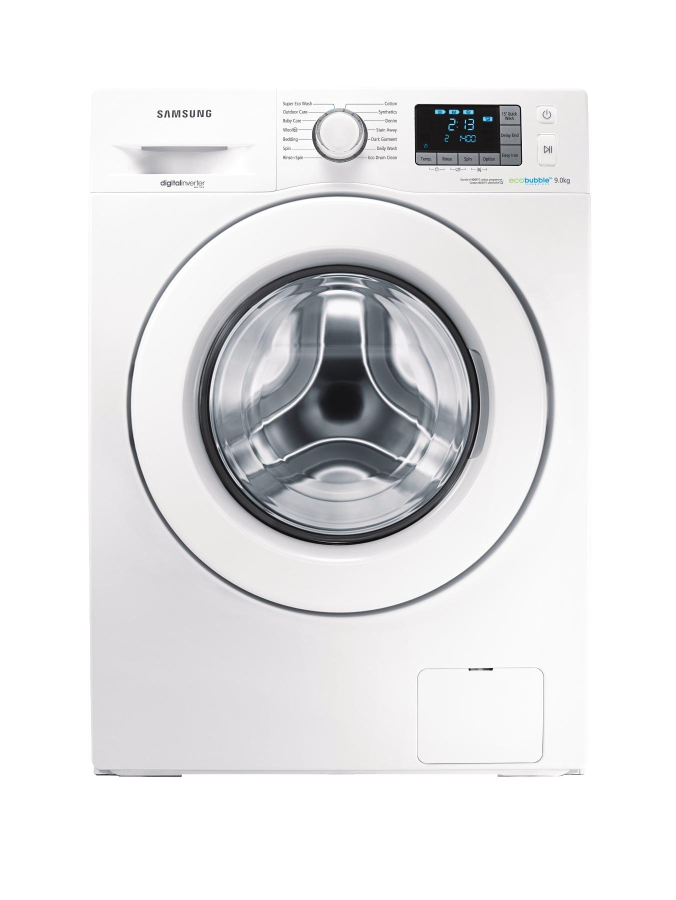 WF90F5E3U4W 1400 Spin, 9kg Load Washing Machine - White