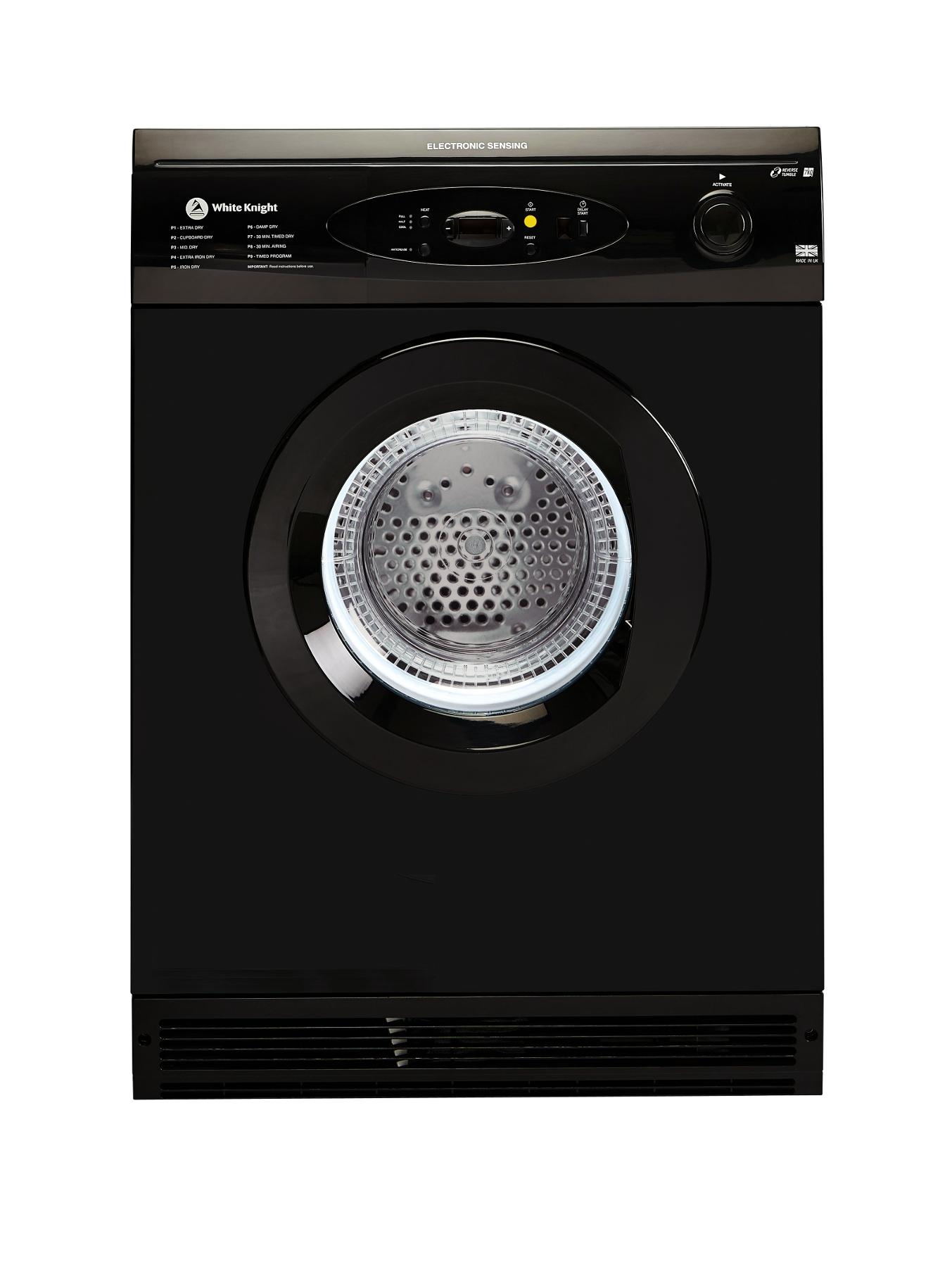 C86A7B 7kg Load Vented Dryer - Black