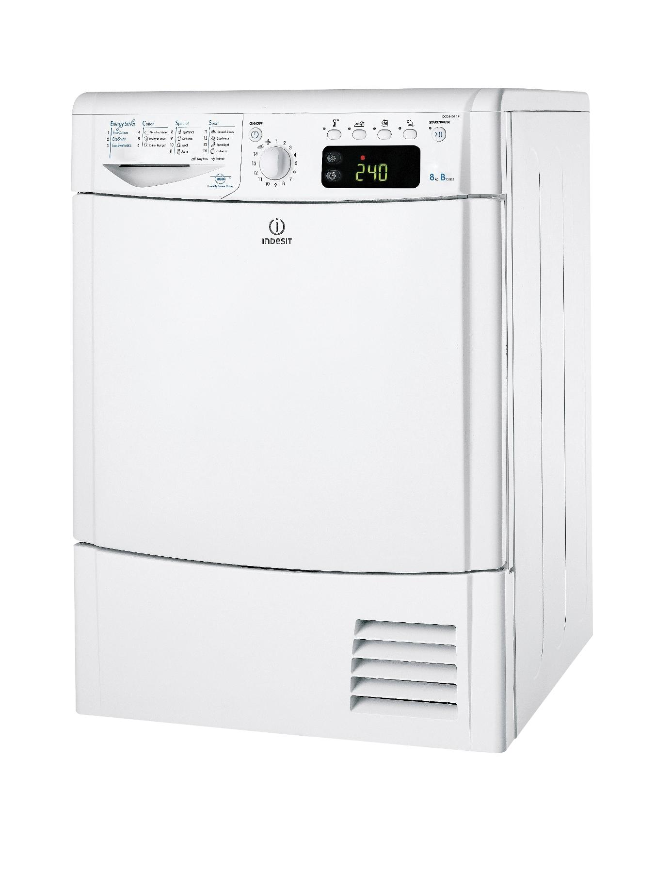 IDCE8450BH 8kg Load Condenser Dryer - White