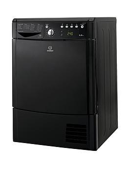 indesit-ecotime-idce8450bkh-8kg-load-condenser-dryer-black